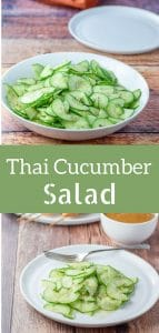 This Thai cucumber salad is extra yummy with a perfectly balanced dressing! It's low-cal and super delicious!
