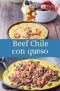 Beef Chile Con Queso for Pinterest