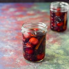 Two jars of Bourbon soaked cherries