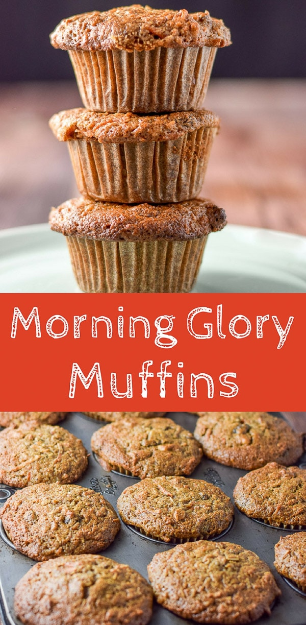 These morning glory muffins are so good.  They are healthy and fun to eat in the morning!  The true test is if you can stop after just one. #morningglory #muffins #breakfast #dishesdelish #dishesdelishrecipes http://ddel.co/morglmuf