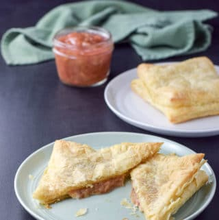 Cream Cheese Rhubarb Pastry