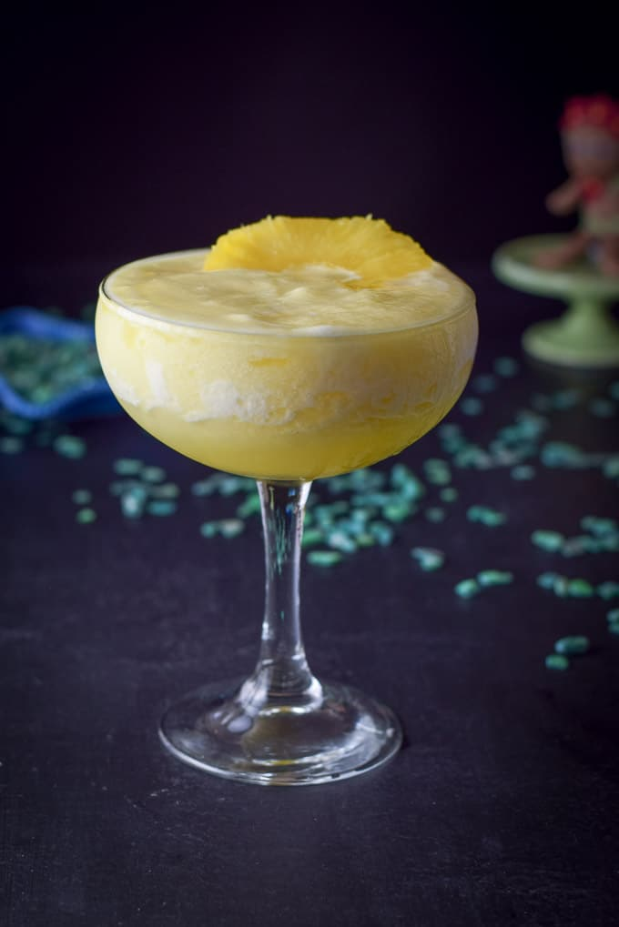 Closer view of the mouth watering pineapple margarita