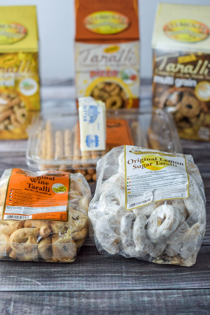 All the product sent to me for the Taralli crusted ricotta pie