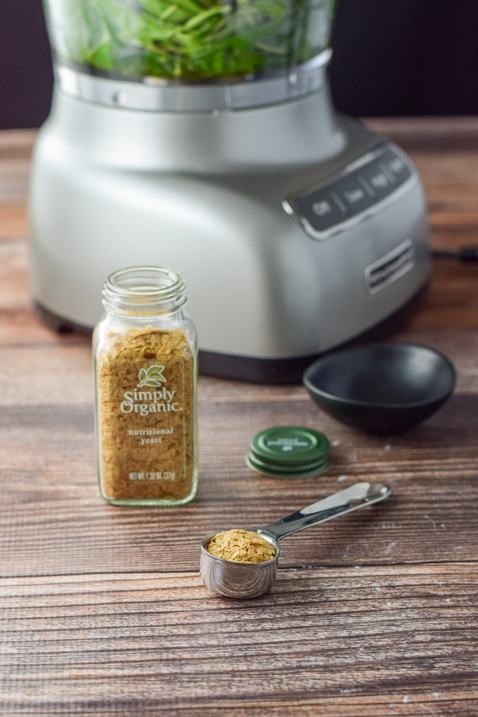 1 Tablespoon of simply organic nutritional yeast for the versatile vegan pesto sauce