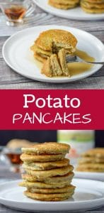 These potato pancakes are so good. My grandmother used to make this as a special treat but her recipe was lost. I finally figured it out and now you can make it too!