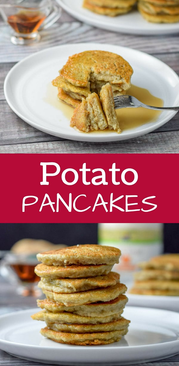 These potato pancakes are so good.  My grandmother used to make this as a special treat but her recipe was lost.  I finally figured it out and now you can make it too! #potatopancakes #pancakes #dishesdelish #breakfast #dishesdelishrecipes https://ddel.co/potatopanc