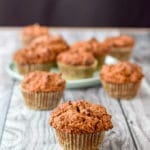 Different view of the healthy pumpkin chocolate chip muffins