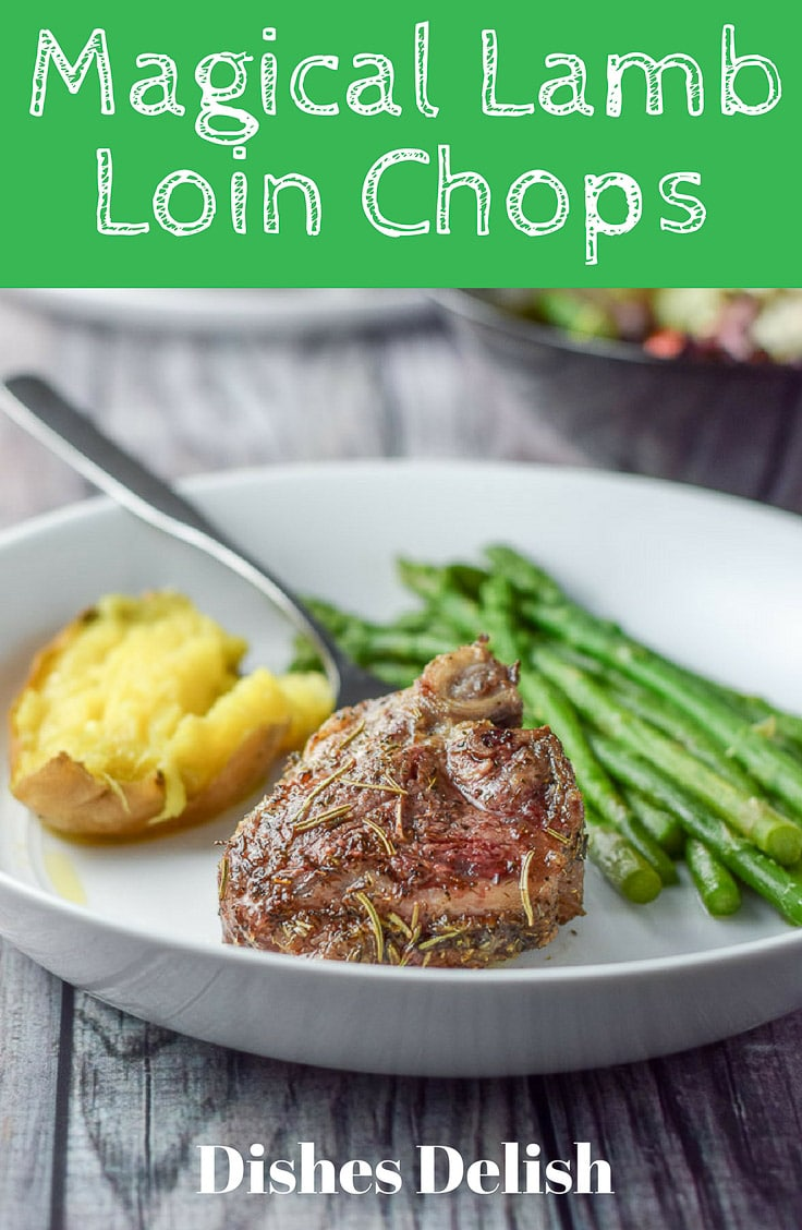 Magical lamb loin chops are so good that you will want to savor each and every forkful!  The chops are cooked to perfection and so delicious! #lamb #lambchops #mutton #dishesdelish #dishesdelishrecipes https://ddel.co/lalochops