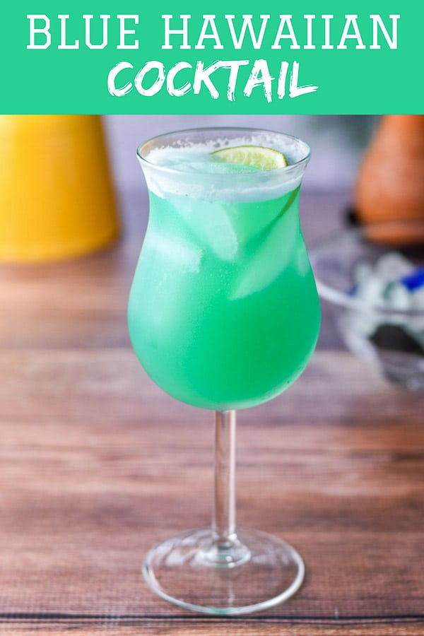 This sort of Blue Hawaiian Cocktail is so good you will forgive it for not being a pure blue!  But who's pure nowadays?  Certainly not I ;)  It's a pretty turquoise color and so delicious and refreshing! #blue #blueHawaiian #cocktail #drink #dishesdelish #dishesdelishcocktail https://ddel.co/bluehawa