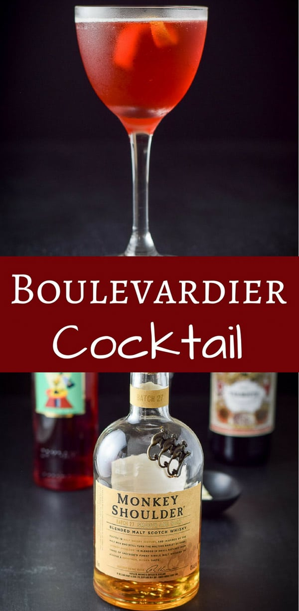 Balanced Boulevardier cocktail is such a great aperitif! It is delicious and super easy to make. Stimulate your appetite with these 3 awesome ingredients! #cocktail #drink #boulevardier #dishesdelish #dishesdelishcocktails https://ddel.co/bouleco