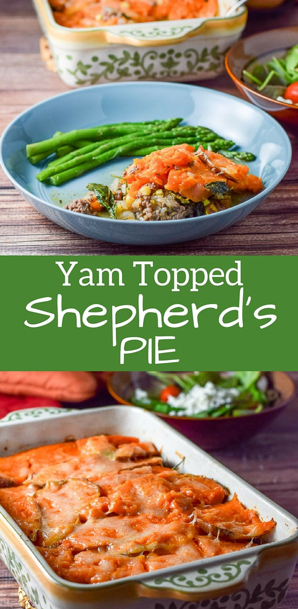Three cheers for shepherd's pie casserole dish is so good that you will take out your pom-poms and cheerleading outfit so you can jump up and down with glee! #shepherdspie #yam #casserole #dishesdelish #dishesdelishrecipes https://ddel.co/shpieca