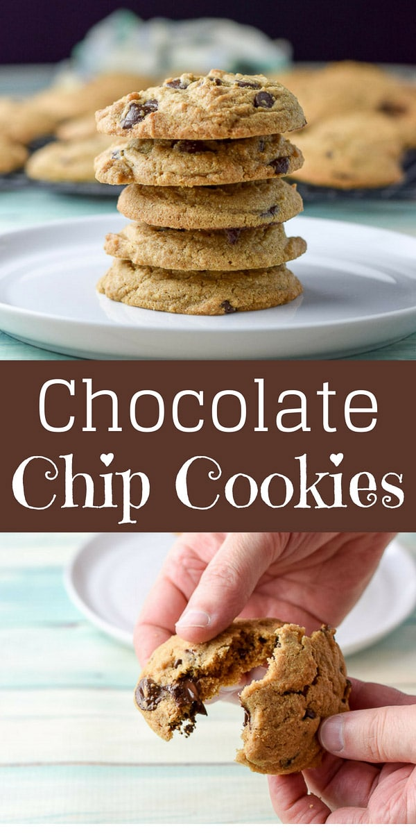 These eat them all chocolate chip cookies are so delicious that you will want to . . . well, eat them all #chocolatechipcookies #cookies #desserts #dishesdelish #dishesdelishrecipes https://ddel.co/etaccco