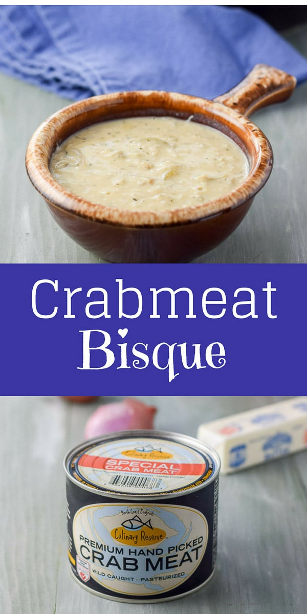 This Crazy Lady Crabmeat Bisque is aptly named because it makes me act like one when I either know I'm going to eat it, or when I do eat it. It's not pretty! #crabmeatbisque #crabmeat #bisque #dishesdelish #dishesdelishrecipes https://ddel.co/crbmtbisq