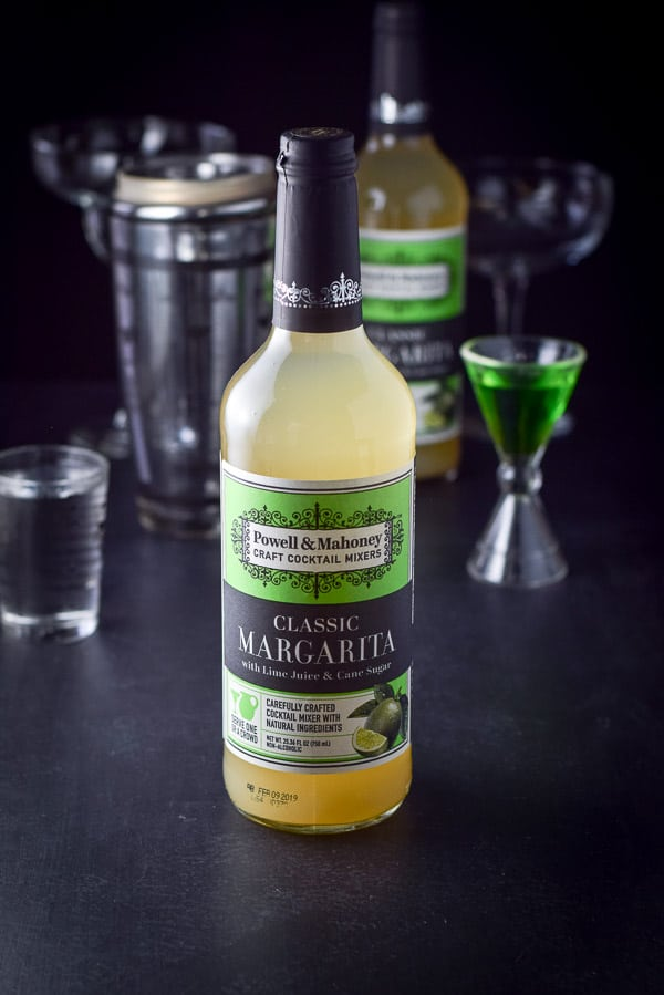 Powell & Mahoney's classic margarita in the bottle for the marvelous melon margarita cocktail