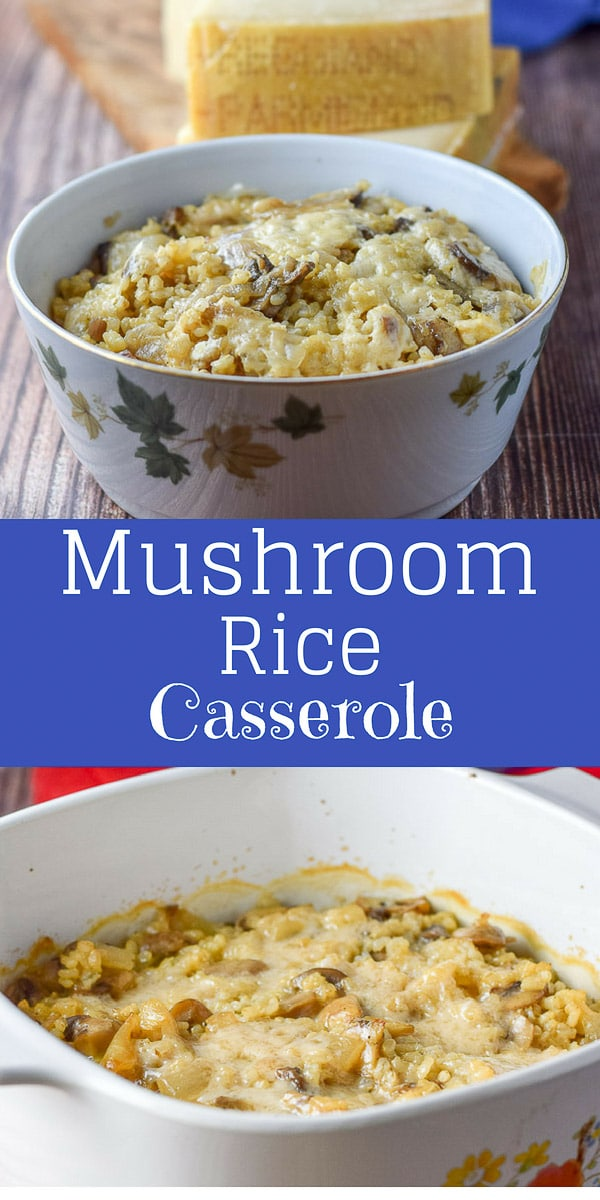 Marvelous #Mushroom #Parmesan #Rice #Casserole is so good that it can either be eaten as a side dish or as a meal.  The #Parmigiano #Reggiano cheese is so good in it, that it's hard not to eat the whole thing in one sitting.  It's that good. #ParmesanAmbassador  #parmigianoreggiano  #theonlyparmesan https://ddel.co/mmparmrice