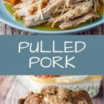 Perfectly Delectable Pulled Pork is so fun because your slow cooker does all the work. It's tender and oh so tasty. I like a savory sauce on mine. What about you? Sweet or savory?