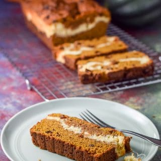 Layered Pumpkin Cheesecake Bread