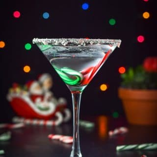 Holiday Chocolate Candy Cane Martini