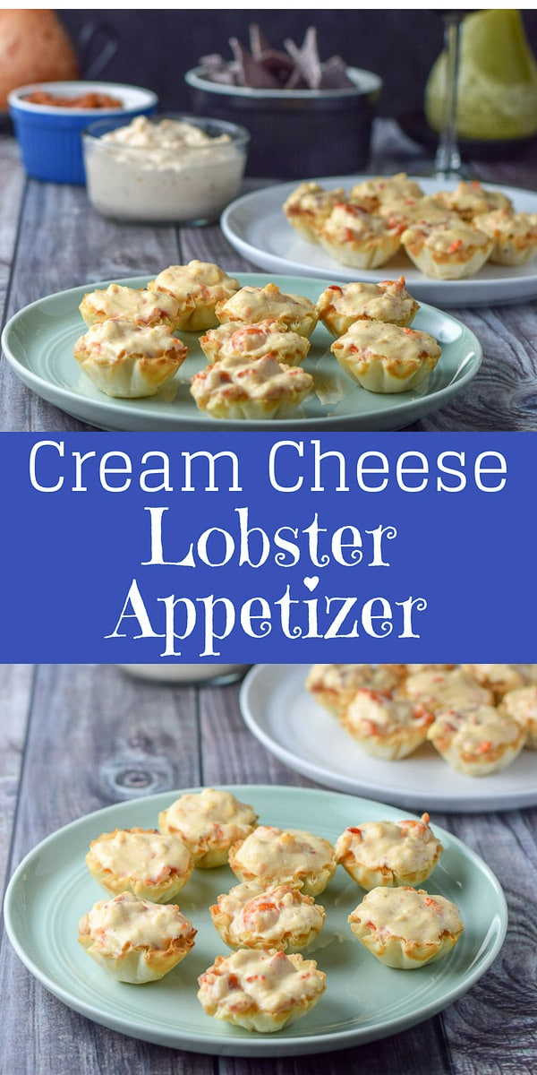 Phyllo Cream Cheese Lobster Appetizer is so good you will wonder where it's been all your life. Easy to make and so tasty, your guests will thank you!!  Or you can eat it by yourself and be thankful! #lobster #appetizer #creamcheese #dishesdelish #dishesdelishrecipes https://ddel.co/cclaptzr