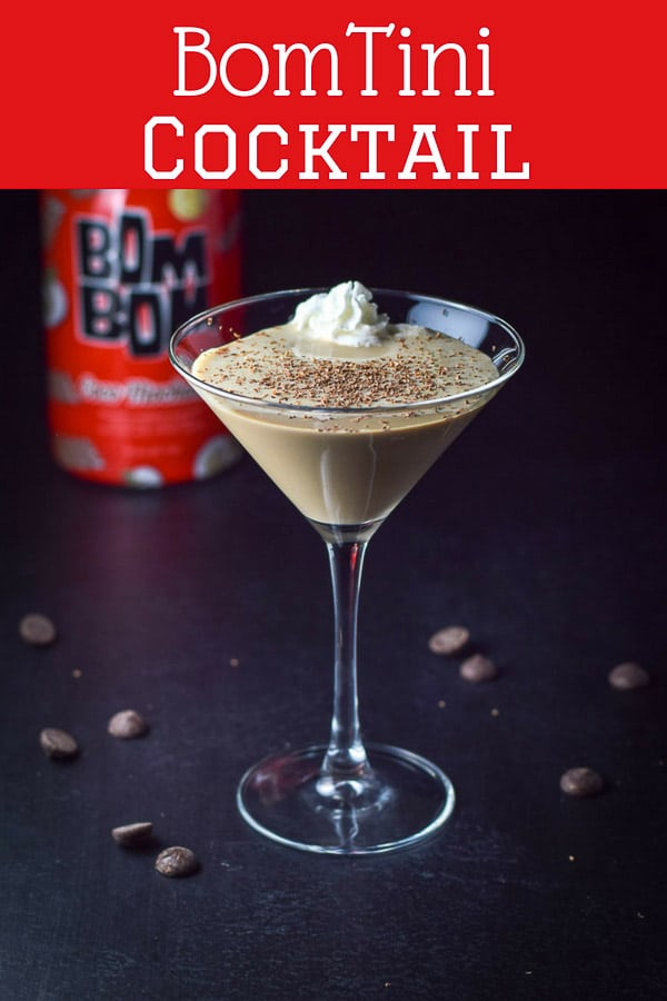 #ad This Decadent Coco Mochanut BomTini Cocktail is so scrumptious that it would be a great dessert cocktail. But don't limit yourself. It's a great cocktail anytime! #bombom #bomtini #cocktail #drink #dishesdelishcocktails https://ddel.co/bomtini