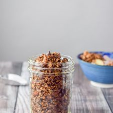 More of a vertical view of the crunch chocolate peanut butter granola