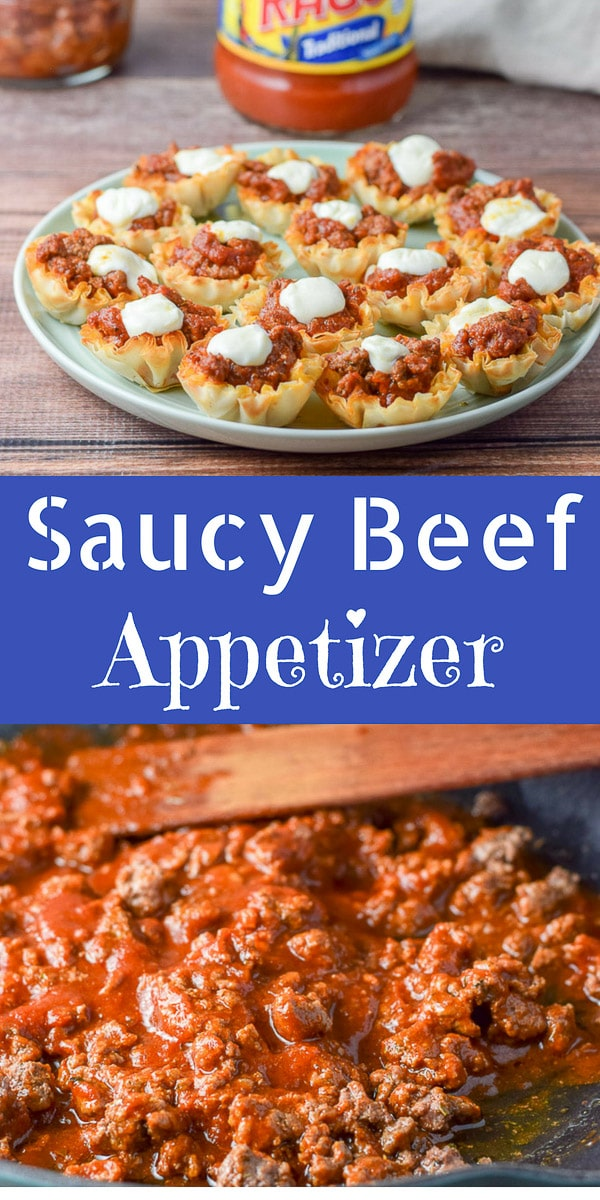 #ad #Saucy #Beef #Appetizer Cups are so delicious and easy that your next #gameday #party will have your guests clamoring to eat them! #RAGUPartyPleasers https://ddel.co/msbac