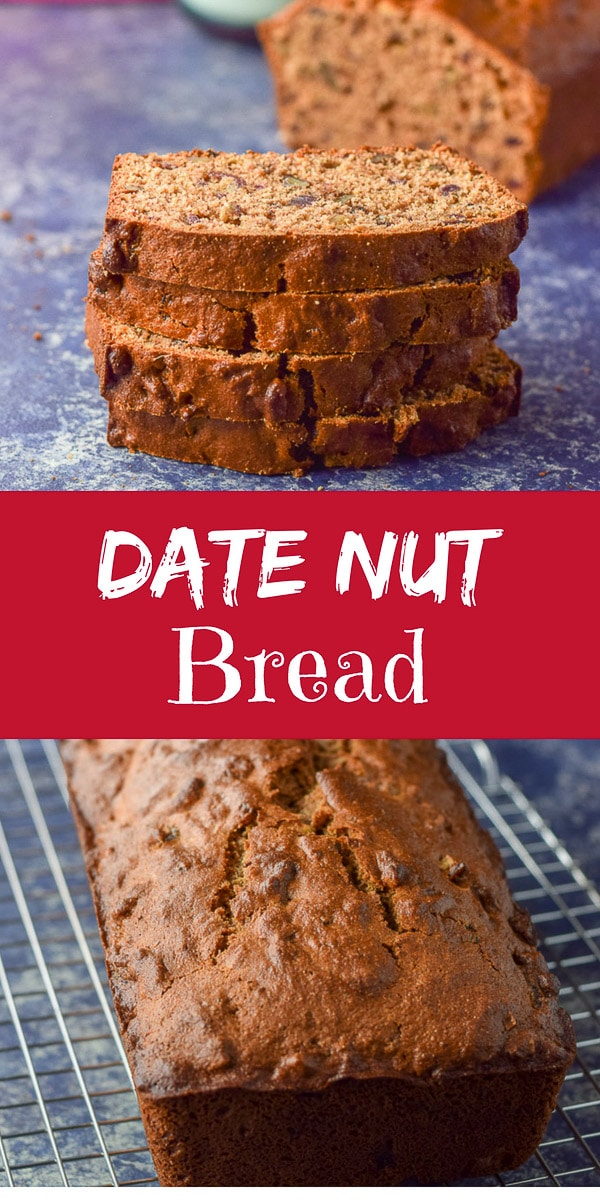 #Date #Nut #Bread is easy to make and tasty to eat! Slightly sweet and moist, it will satisfy your need for something delicious for #breakfast without eating too much sugar! https://ddel.co/dednbrd