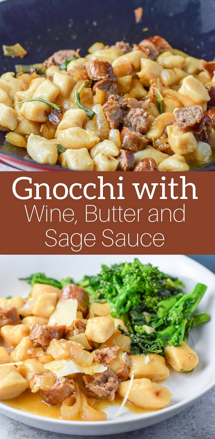 Gnocchi with Sauce! But not just any sauce! It's a wine, butter and sage sauce and it goes spectacular on this gnocchi dish! #gnocchi #winebuttersagesauce #gnocchisauce #pasta #dishesdelish https://ddel.co/gws
