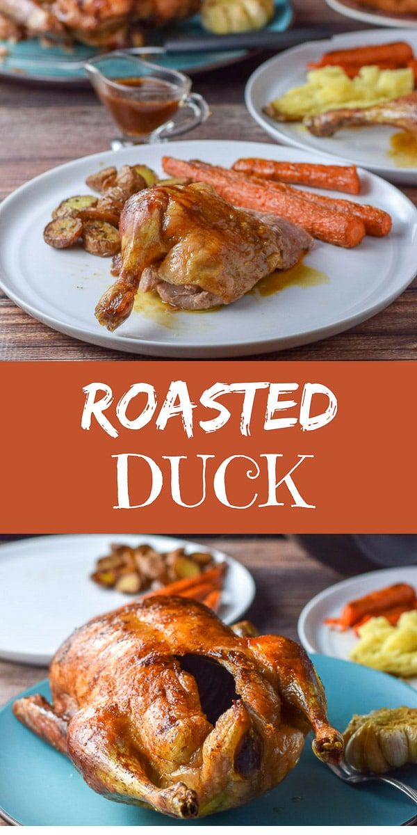 This #roasted #duck is so delicious that it will be rabble rousing!! It is moist and delicious because of the slow roasting! #sunday #sundaysupper #dishesdelish #dishesdelishrecipes https://ddel.co/rstddck