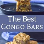 These are the best congo bars I've ever had! I love how nice and thick they are! These are the ultimate chocolate chip squares, for reals!