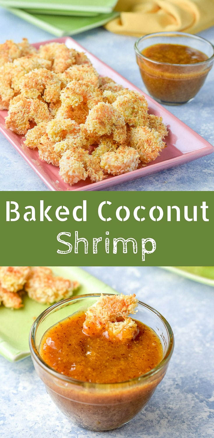 This baked coconut shrimp is head and shoulders above other recipes! What makes it so yummy? The crunchy coating and the apricot sauce. #coconutshrimp #shrimp #bakedcoconutshrimp #dishesdelishrecipes https://ddel.co/bccs