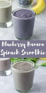 #ad This blueberry banana spinach smoothie is extra smooth because I add Dr. Axe's Multi Collagen Protein powder. Tasteless and odorless but beneficial. Which makes it a delight to add to delicious smoothies