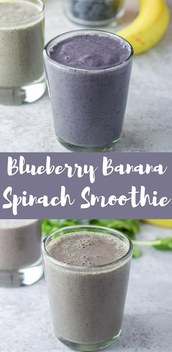 #ad This blueberry banana spinach smoothie is so fun because I add Dr. Axe's Multi Collagen which makes it even smoother!  I love my smoothies with spinach and hubby loves it without!  Which is your favorite?  This smoothie is both tasty and fun to drink! #ancientnutrition #collagen #smoothie #blueberrybananasmoothie #dishesdelish #dishesdelishrecipes https://ddel.co/bbss