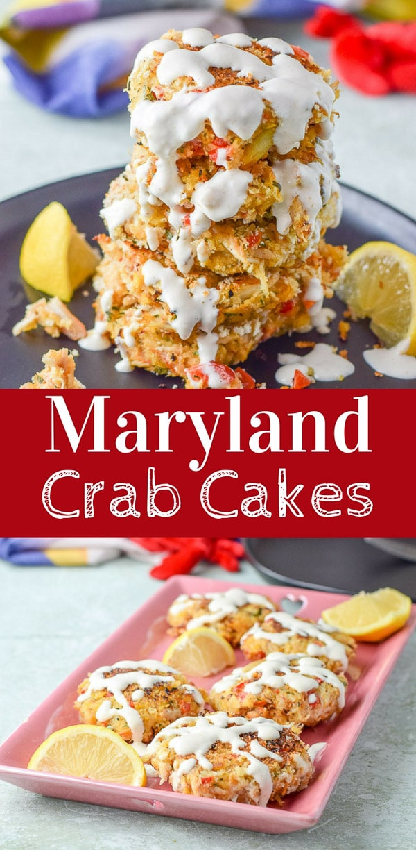 Maryland crab cakes are a delicious and a fun appetizer.  Your guests will love you for making this delightful recipe!  #crabcakes #marylandcrabcakes #seafood #appetizer #dishesdelishrecipes