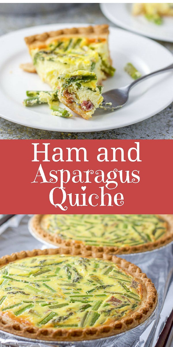 This Ham and Asparagus Quiche recipe is delightfully delicious and so easy to make.  Perfect for your next brunch! #ham #quiche #asparagus #brunch #breakfast #dishesdelish #dishesdelishrecipes https://ddel.co/haq