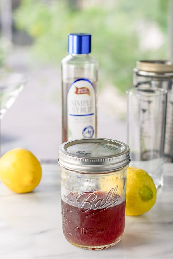 Cherry infused vodka, lemons and simple syrup for the cherry vodka sour