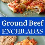 Ground Beef Enchiladas for Pinterest
