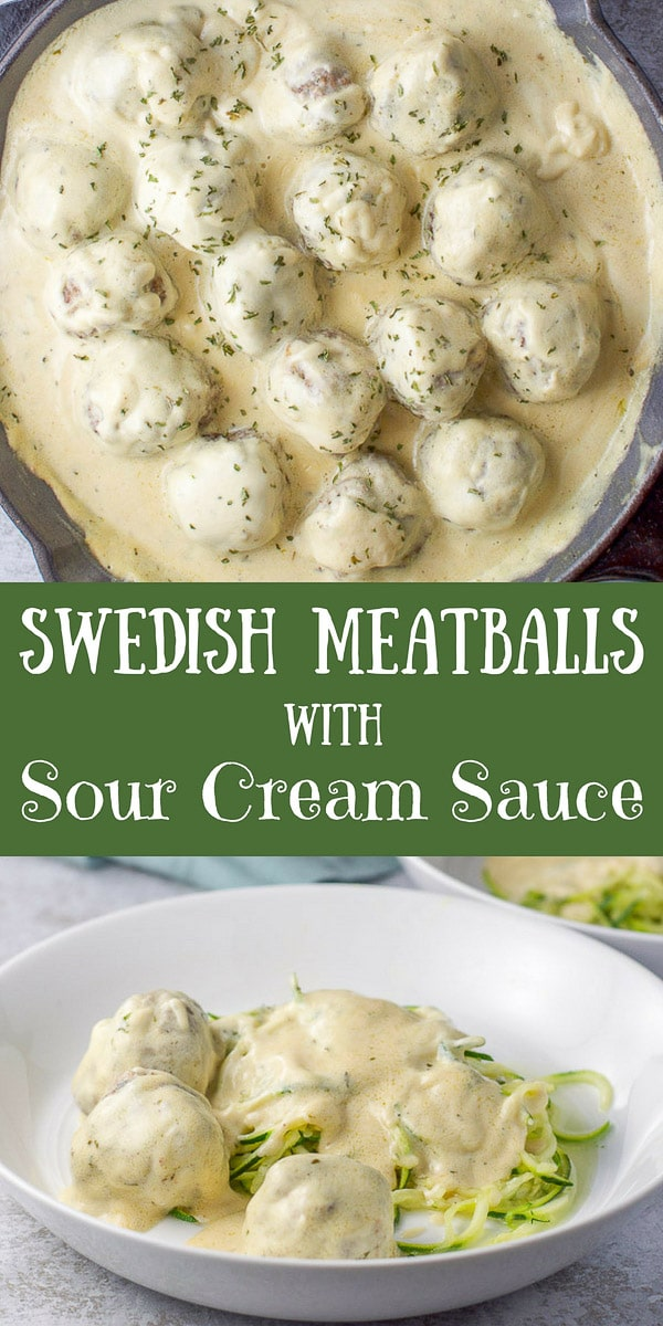 These Swedish meatballs are moist and delicious, especially with my popular sour cream sauce!!  Ladle them on zoodles or egg noodles for a delightful dinner! #dinner #supper #meatballs #swedishmeatballs #dishesdelish #dishesdelishrecipes https://ddel.co/smwscs