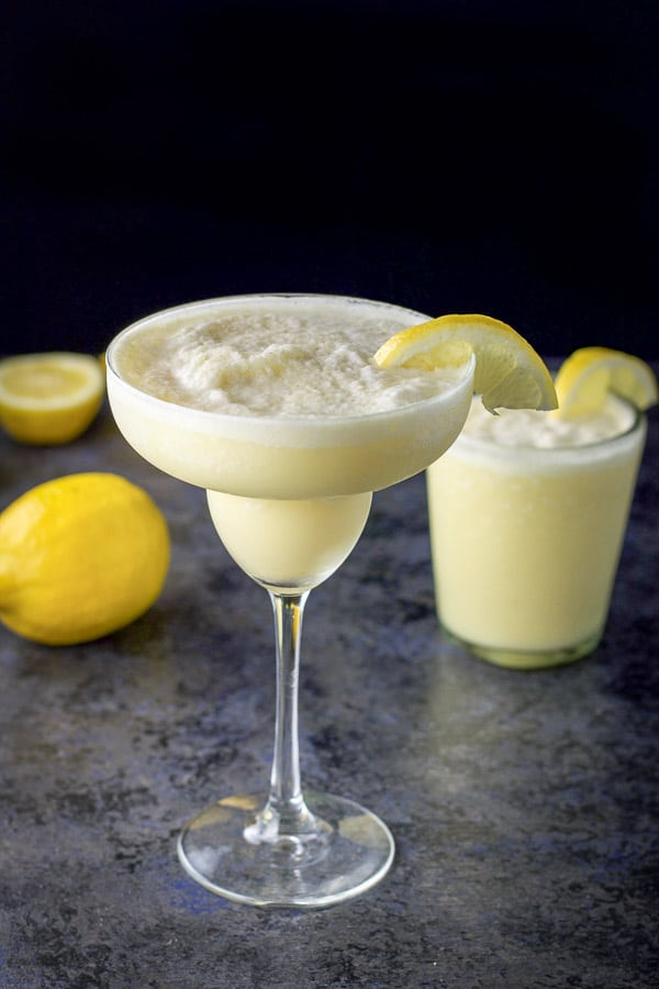 different view of the lemon curd margarita