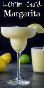 Lemon Curd Margarita for Pinterest