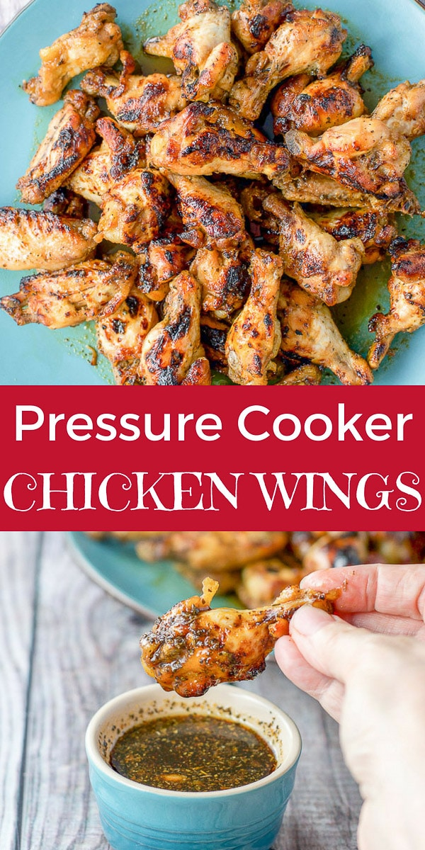 These pressure cooker chicken wings are awesome because of how quick you can make them!  The marinade makes these crispy delicious wings special and should be at every party! #ad #cosori #chickenwings #marinade #pressurecooker #dishesdelishrecipes https://ddel.co/pccw