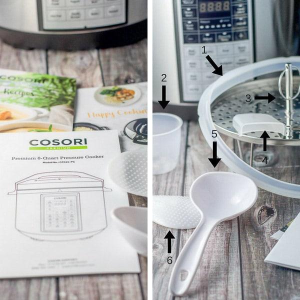 Cosori pressure cooker collage for the pressure cooker chicken wings