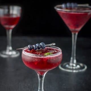 Blueberry Mint Cosmo Cocktail
