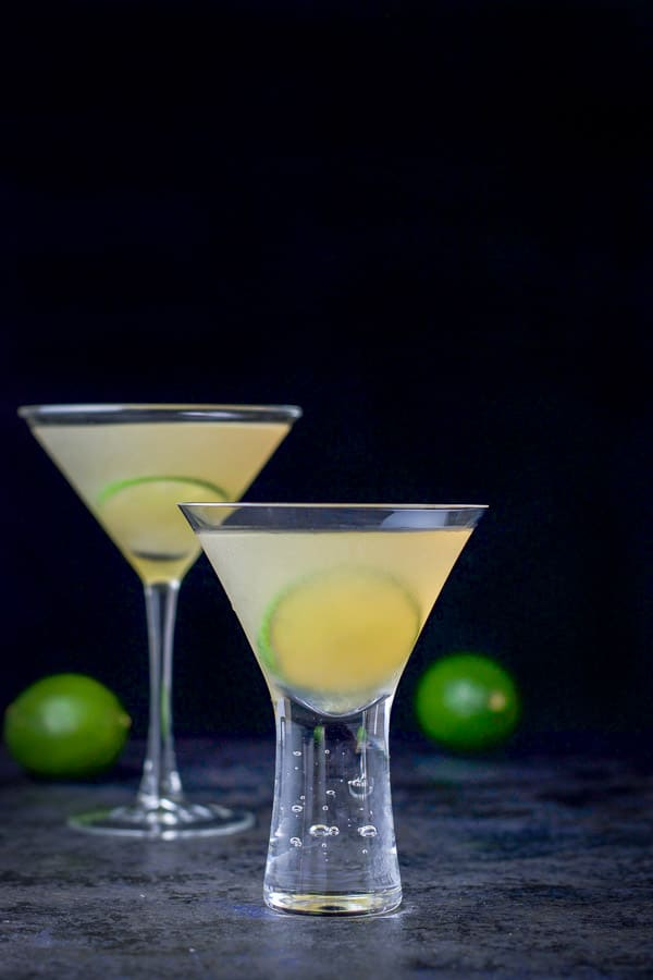 vertical view of the classic daiquiri