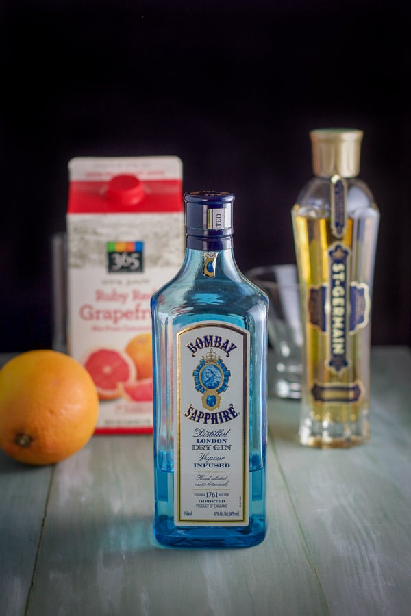 Gin, St. Germain liqueur and grapefruit for the Frenchie Cocktail