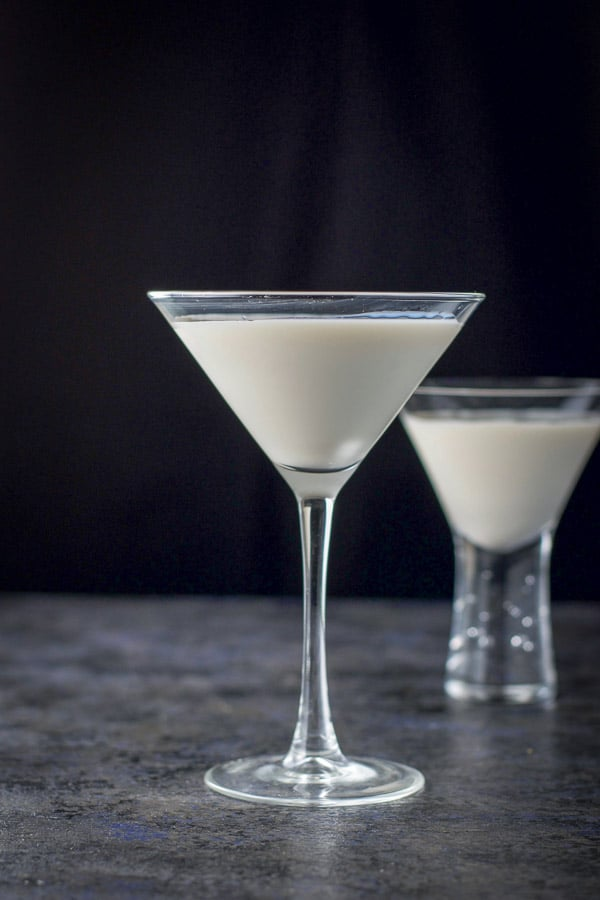 vertical view of the skinny Jane martini