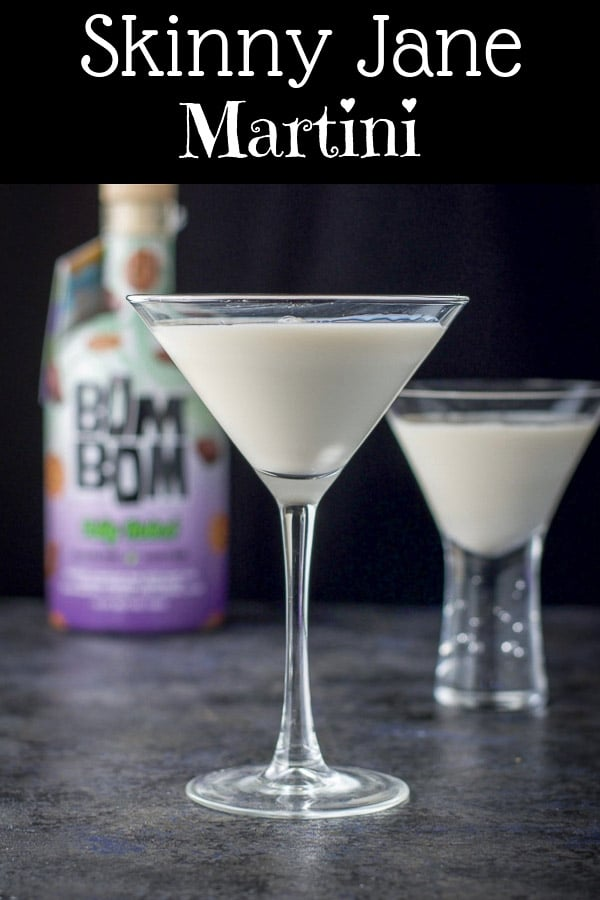 #ad This skinny Jane martini has only two ingredients, this delicious fully baked liqueur and vanilla vodka!  It's like drinking a cross between a brownie and chocolate chip cookie!  Totally delicious! #drinkBomBom #shakeyourbombom #fullybaked #dishesdelish https://ddel.co/sjm