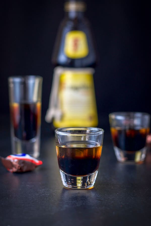 Frangelico layered on for the snickers shot