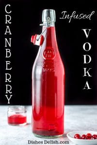 Cranberry Infused Vodka for Pinterest