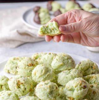 Pistachio Cookies | Cream Cheese Rounds
